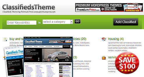 Classifieds Theme Screenshot